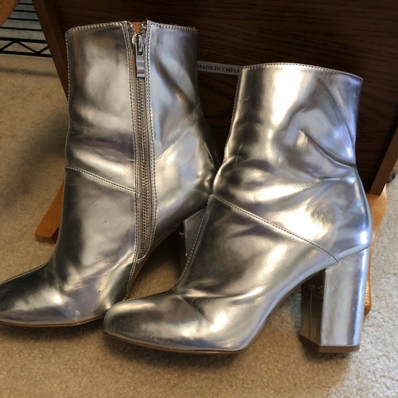 Silver Ankle Boots | Poshmark